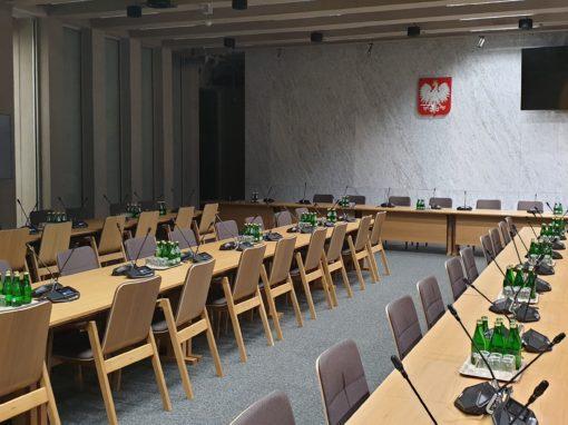 Budynek Komisji Sejmowych Warszawa, ul. Wiejska (prace realizowane jako podwykonawca Warbud)